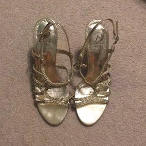 Gold Stiletto Heels Size 8